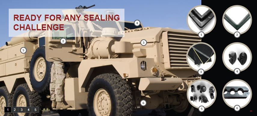Specialty Seals and Custom Insulation for Military Vehicles