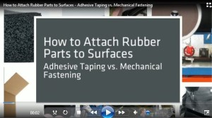Video: How to Attach Taped Rubber Parts