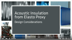 Video - Acoustic Insulation Design Considerations